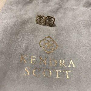 Gold Kendra Scott Logo Studs